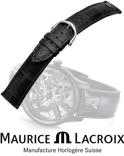 Bracelet de montre MAURICE LACROIX LOISIANA noir/inox 16