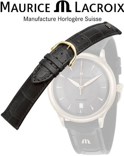 Bracelet de montre MAURICE LACROIX LOISIANA noir/or 16