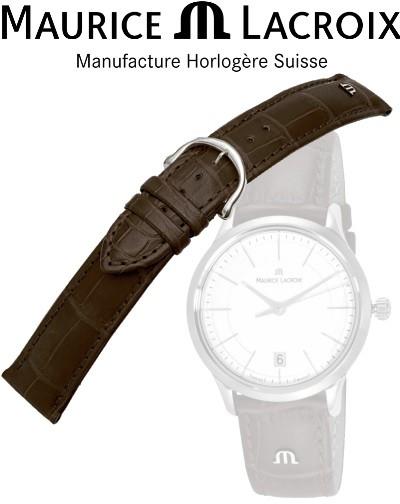 Bracelet de montre MAURICE LACROIX LOISIANA brun/inox 16