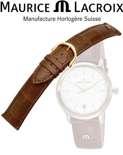 Bracelet montre MAURICE LACROIX LOISIANA cognac/or 16