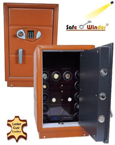 Safewinder® 12 SPECIAL MARRON = Coffre-fort & 12 Remontoirs